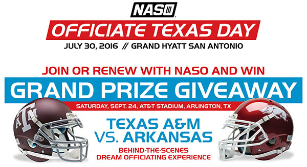 Officiate Texas Day - Grand Prize Giveaway